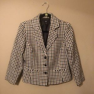 Mossimo Houndstooth Blazer Brown Size Small